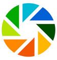 aperture like symbol circular icon with lamellas vector image