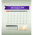 August 2013 Calendar vector image vector image