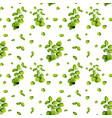 beautiful leaf on seamless pattern vector image vector image