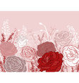 Beautiful Rose Design Background vector image vector image