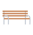 bench park furniture street isolated design white vector image vector image