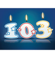 Birthday candle number 103 vector image vector image