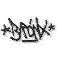 bronx new york usa hip hop related tag graffiti vector image vector image
