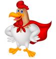 Cartoon super rooster posing vector image