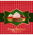 Christmas vintage background with pastry vector image vector image