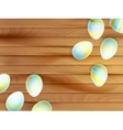Colorful easter eggs background EPS 10 vector image vector image