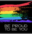 conceptual poster with rainbow flag and lettering vector image