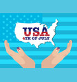 creative fourth of july independence day poster vector image vector image