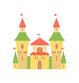 cute princess castle fairytale medieval fortress vector image vector image