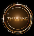 design thailand glowing bright circle vector image
