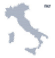 dotted map of italy isolated on white background vector image