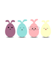 Easter eggs rabbit flat syle icons vector image vector image