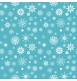 Elegant white snowflakes of various styles vector image vector image