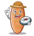 explorer baked bread character cartoon