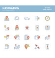 flat line filled icons design-navigation vector image