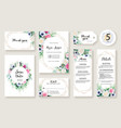 floral wedding invitation card rose and greenery vector image vector image