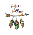 follow your dream vector image