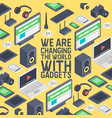 gadget seamless pattern digital device vector image vector image
