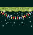 garlands with christmas lights hanging vector image