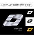 Geometrical sign logo design template black white vector image vector image