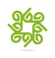 go green leaf greening symbol icon vector image