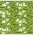 hand drawn tulip floral seamless pattern early vector image