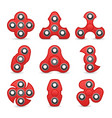 hand spinner toy fidget toy for increased focus vector image vector image