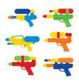 happy songkran festival in thailand water gun toy vector image vector image