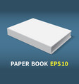 hardcover white book-02 vector image