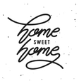 Home related poster vintage typography vector image vector image