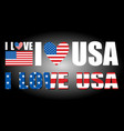 i love usa vector image