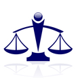 Icon - Justice scales vector image