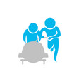 isolated skiing people icon vector image