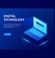 isometric tech devices connected big data vector image vector image