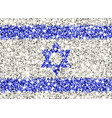 israel sparkling flag vector image vector image