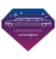 Limousine night service graphic icon sign in vector image vector image