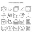mathematics science icon set in line style vector image vector image