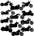 motorcycle silhouettes vector image