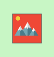 Mountain landscape icon vector image