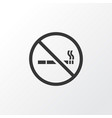 no smoking icon symbol premium quality isolated vector image vector image