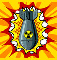 nuclear atomic bomb pop art style vector image vector image