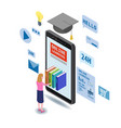 online education isometric icons composition with vector image vector image