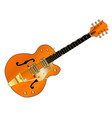 orange country and western guitar vector image vector image