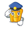 police character ripe yellow pepper for cooking vector image vector image