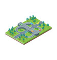 road crossroads isometric view vector image vector image