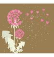 romantic dandelions vector image vector image