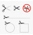 scissors icon set vector image vector image