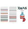 seamless christmas and winter pattern brushes for vector image vector image