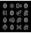 Set line icons of smart watch vector image vector image