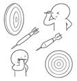 set of dart vector image